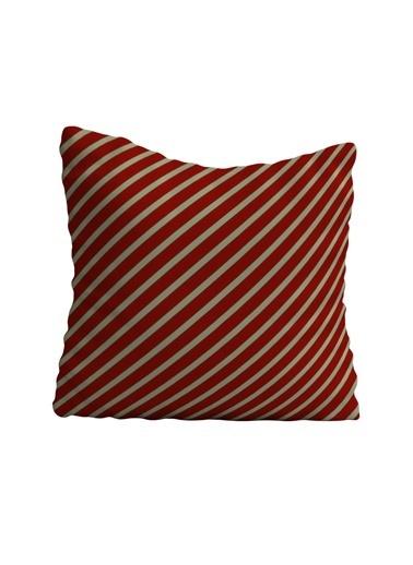 Lyn Home & Decor Kırmızı Krem Yastık Kılıfı 42X42 Renkli